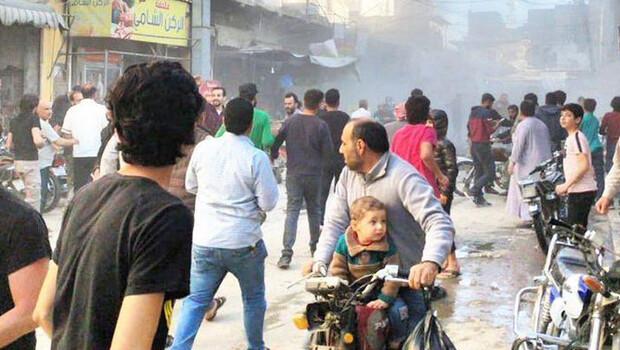 MSB duyurdu! El Bab'da sivillere saldırı