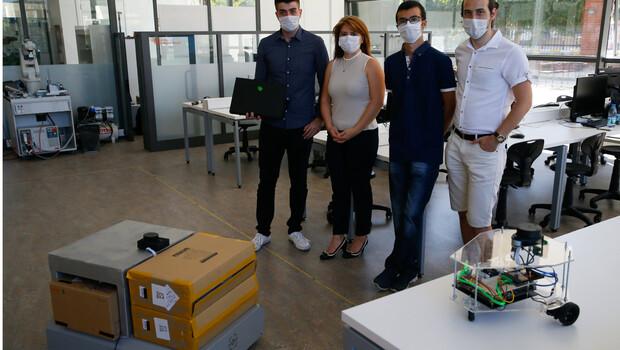 Kendi rotasını belirleyebilen yerli otonom robot geliştirildi