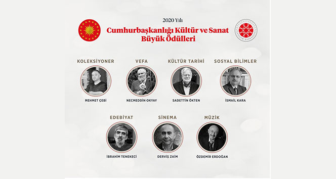 2020 Yılı Cumhurbaşkanlığı Kültür Sanat Büyük Ödülleri'nin sahipleri açıklandı