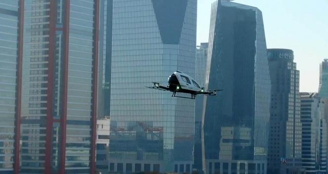 Drone taksi Güney Kore'nin başkenti Seul'da ilk uçuşunu gerçekleşirdi