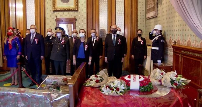 Gazi Mustafa Kemal Atatürk, 82'nci ölüm yıl dönümünde Dolmabahçe Sarayı'nda anıldı