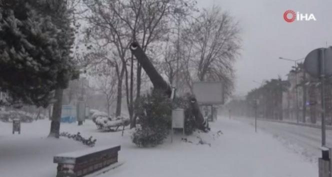 Çanakkale'de kar kalınlığı 7 santimetreye ulaştı