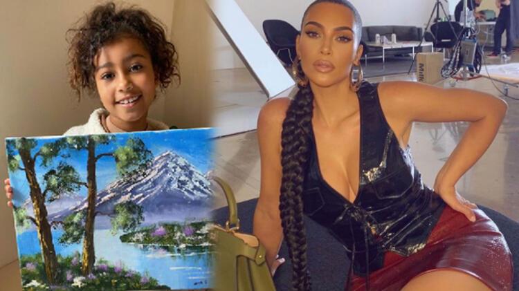 Kim Kardashian kızı North'u eleştiren takipçilerine ateş püskürdü