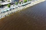 Küçükçekmece Gölü'nün rengi kızıla dönüştü